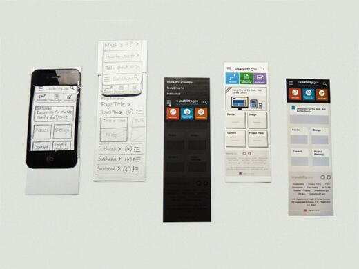 Prototypes of a mobile website