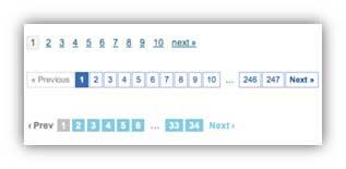 Examples of pagination